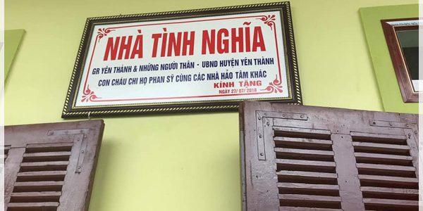 Bàn giao nhà tình nghĩa cho thân nhân Liệt sỹ tại xã Hoa Thành